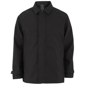 Luke Men's Enforcer Clean Mac Coat - Jet Black