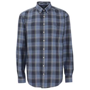 GANT Men's Heather Twill Long Sleeve Shirt - Indigo