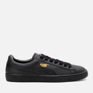 Puma Men's Basket Classic LFS Trainers - Black/Team Gold