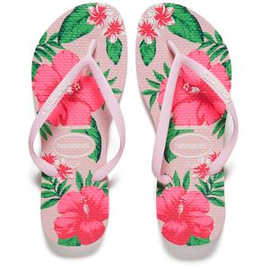 9b785ba45 Havaianas Women s Slim Floral Flip Flops - Crystal Rose Womens Footwear