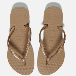 Havaianas Women's Slim Flip Flops - Rose Gold