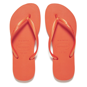 Havaianas Women's Slim Flip Flops - Neon Orange