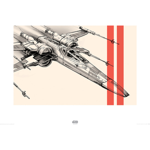 Affiche X-Wing Star Wars : Le Réveil de la Force - 60 x 80 cm