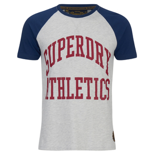 Superdry Men's Team Tigers Raglan T-Shirt - Ice Marl