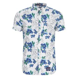 Superdry Men's Miami Oxford Short Sleeve Shirt - Large Hibiscus Optic