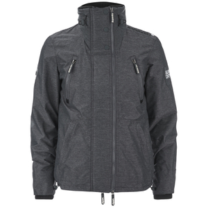 Superdry Men's Technical Wind Attacker Jacket - Dark Charcoal Marl/Black