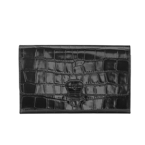 Aspinal of London Travel Wallet - Black Croc