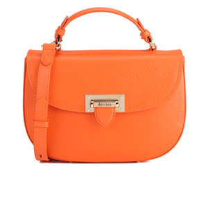 Aspinal of London Women's Letterbox Saddle Bag - Orange