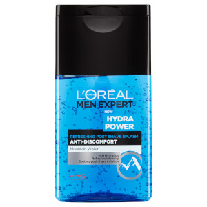 Gel para después del afeitado Hydra Power Refreshing Post Shave Splash de L'Oréal Paris Men Expert (125 ml)