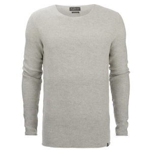 Jack & Jones Men's Originals Basket Knit Jumper - Treated White