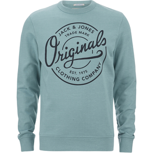 Jack & Jones Men's Originals Tones Sweatshirt - Imperial Blue Melange