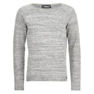 Produkt Men's Space Dye Jumper - Light Grey Melange