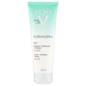Exfoliante, limpiador y mascarilla Normaderm 3-in-1 Scrub, Cleanser and Mask de Vichy (125 ml)