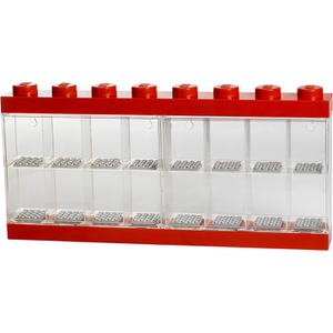 LEGO Mini Figure Display (16 Minifigures) - Bright Red