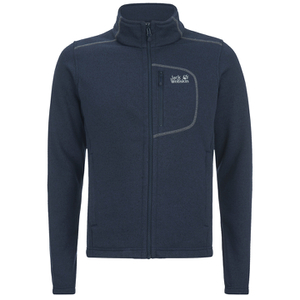 Jack Wolfskin Men's Caribou Fleece Track Jacket - Night Blue