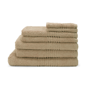 Highams 100% Egyptian Cotton 7 Piece Towel Bale (550gsm) - Latte