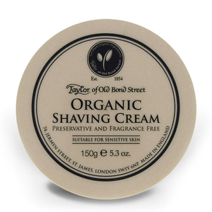 Taylor of Old Bond Street Shaving Cream -partavaahtopurkki ‒ Organic (150g)