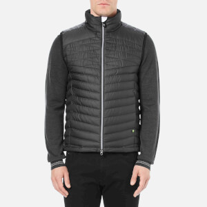 BOSS Green Men's Vakobo Zipped Gilet - Black