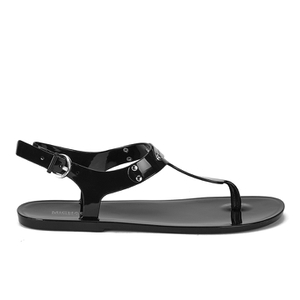 MICHAEL MICHAEL KORS Women's MK Plate Jelly Sandals - Black