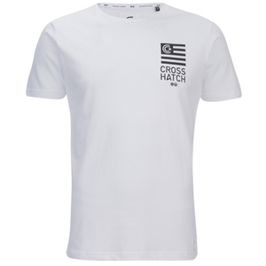 Crosshatch Men's Formalhaut Back Print T-Shirt - White
