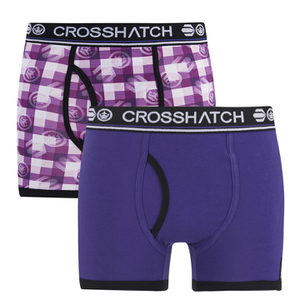 Crosshatch Men's Pixflix 2-Pack Boxers - Purple