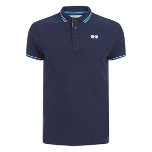 Crosshatch Men's Downtalk Tipped Polo Shirt - Iris Navy