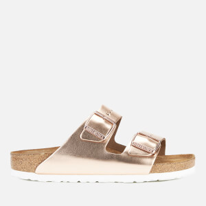 e15764d2a9a5 Birkenstock Women s Arizona Leather Slim Fit Double Strap Sandals -  Metallic Copper