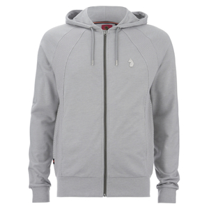 Luke 1977 Men's Ceeyou Raglan Hoody - Light Marl Grey