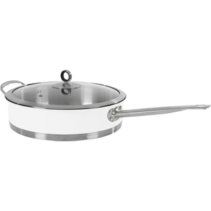 Morphy Richards 79006 Accents Saute Pan with Glass Lid - White - 28cm