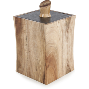 Natural Life NLAS006 Acacia Storage Canister with Slate Lid
