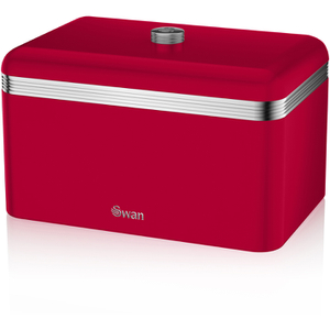 Swan SWKA1010RN Retro Bread Bin - Red