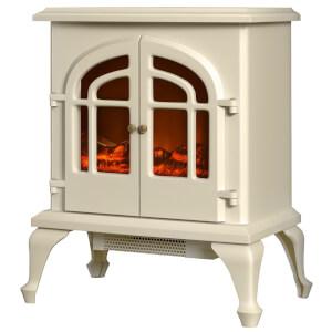 Warmlite WL46015C Log Effect Stove Fire - Cream - 2000W