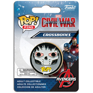 Captain America: Civil War Crossbones Pop! Pin Badge