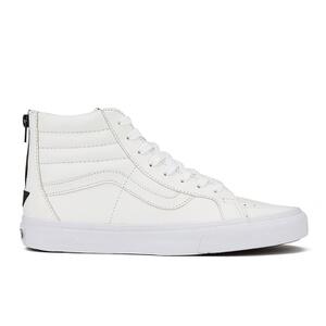 Vans Men's Sk8-Hi Reissue Zip Premium Leather Trainers - True White/Black