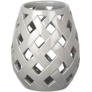 Parlane Beatrix Ceramic Candle Holder - Grey