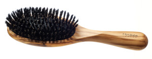 Hydrea London Olive Wood Hair Brush -hiusharja