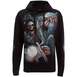 Spiral Men's Night Church Hoody - Black