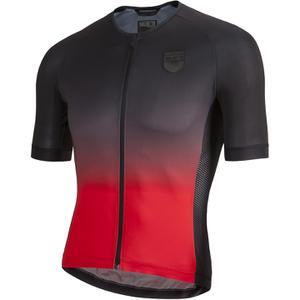 Nalini Crit Ti Short Sleeve Jersey - Red/Black