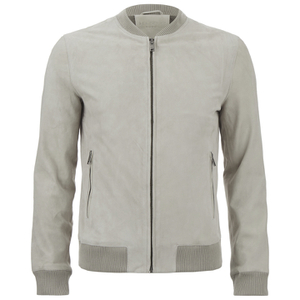 Selected Homme Men's Ean Suede Bomber Jacket - Abbey Stone