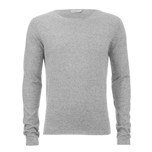 Selected Homme Men's Token Crew Neck Jumper - Light Grey Melange