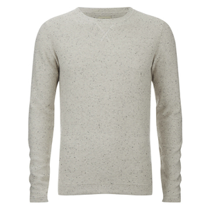 Selected Homme Men's Hunter Crew Neck Jumper - White Pepper