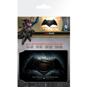 DC Comics Batman v Superman Dawn of Justice Logo Card Holder