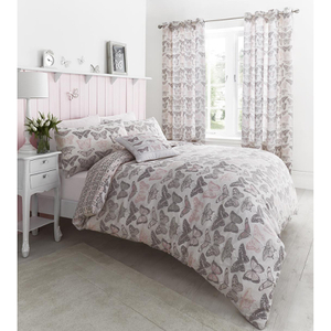 Catherine Lansfield Pastiche Butterfly Bedding Set - Pink