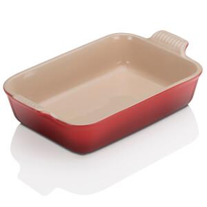Le Creuset Stoneware Medium Heritage Rectangular Roasting Dish 26cm - Cerise
