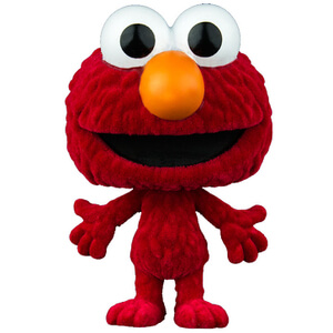 Barrio Sésamo Elmo Flocked Pop! Vinyl