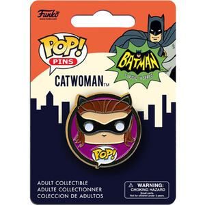 DC Comics Batman Classic 1966 Catwoman Pop! Pin Badge