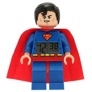 LEGO ® DC Comics Super Heroes Superman Minifiguren-Uhr mit Wecker