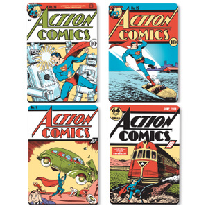 DC Comics Superman Comic Covers Set of 4 Coasters