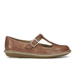 Clarks Women's Tustin Talent Leather Mary Jane Flats - Dark Tan