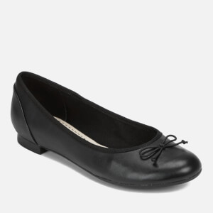 Clarks Women's Couture Bloom Leather Ballet Flats - Black: Image 2